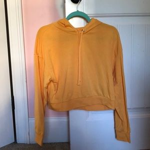 Cropped yellow hoodie